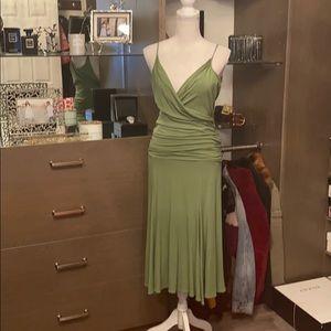 Bcbg midi dress rouching around waist